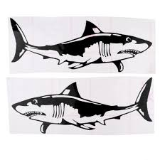Shark Sticker Decal For Car Truck Kayak Fishing Boat Graphics Accessories Waterproof Adhesive Durable Long Lasting Atv Attachments And Accessories Atv Body Parts From Tishita 8 53 Dhgate Com