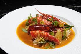 char-grilled Carabineros Asian prawns ...