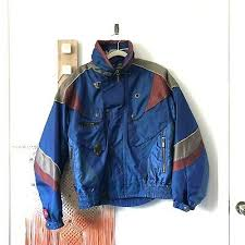 jacket ski 80s 90s thinsulate logo blue