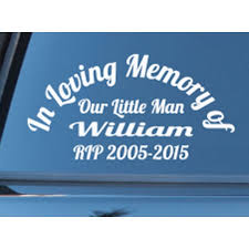 Custom Name In Loving Memory Of Rip Years Memorial Car Sign Vinyl Decal Sticker Ozdeco T S Polonaiz