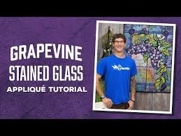 gvine stained glass pattern from
