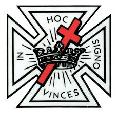 Masonic Knights Of Templar Car Window Sticker Decal Masonic Car Emblem With Black Logo And Red Cross Inside Window Front Adhesive Mason Zone