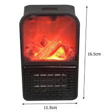 eu plug portable fireplace flame heater