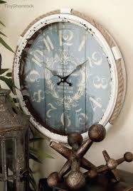 large wall clock 24 coastal cottage