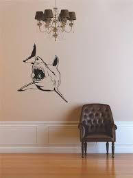 Blue White Tiger Bull River Shark Creature Jaws Decal 10x10 Beach Style Wall Decals By Design With Vinyl
