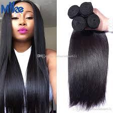 bundles straight human hair weave