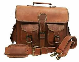 distressed leather briefcase laptop