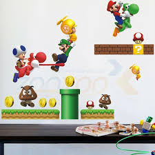 Childhood Memory Super Mario Game Wall Sticker For Kids Room Zooyoo621 Decorative Wall Decor Removable Pvc Wall Decals Diy Room Wall Decals Room Wall Stickers From Qiansuning666 14 96 Dhgate Com