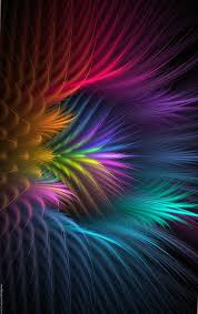 wallpapers feather flower abstract