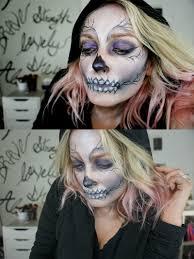 glam skeleton makeup for