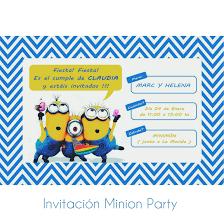 Estas Invitado A Nuestra Minion Party Miss Cherry Studio