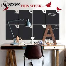 This Week Plann Calendar Erasable Blackboard Chalkboard Vinyl Wall Decal Sticker Home Office 70x107cm Wall Stickers Home Garden Aliexpress
