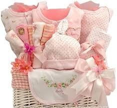 rosy cheeks baby gift basket in