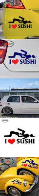 I Love Sushi Jdm Vinyl Decal Sticker Car Window Truck Decor Auto Parts And Vehicles Car Truck Graphics Decals Moonnepal Com