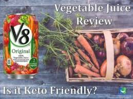v8 vegetable juice review is it keto