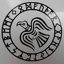 Amazon Com Odins Raven Rune Circle Vinyl Decal Automotive