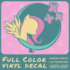 Fluttershy Vinyl Decal Etsy
