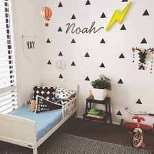 8 Ways To Style Black Triangle Wall Decals In A Kids Room Kids Bedroom Update Kids Room Inspiration Boy Room