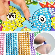 Kids Diamond Sticker Crystal Craft Diy Painting Alottaboutique