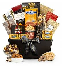 with sympathy gourmet gift basket