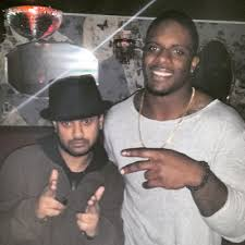 mrk4hiphop: DJ RD WITH NFL 49ERS NICK MOODY
