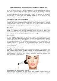 ppt tips by makeup artist on how to