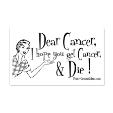 Dear Cancer I Hope You Get Cance 20x12 Wall Decal By Funnycancershirts Cafepress