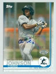 2019 Topps Pro Debut Prospect Autograph #166 Osiris Johnson Marlins   eBay