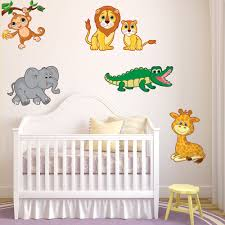 Shop Colorful Safari Animals Vinyl Decal Set Overstock 10031453