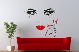 Beauty Eyes Wall Decal Sticker Salon Wall Sticker Design