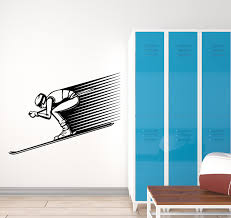 Vinyl Wall Decal Extreme Skier Skiing Winter Sport Club Art Decor Stic Wallstickers4you