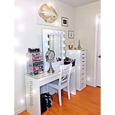 white ikea malm dressing table with