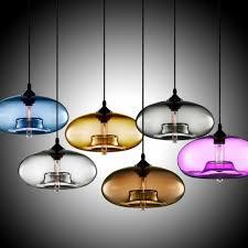 glass shade hanging mini pendant light