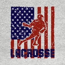 usa flag lacrosse t shirt