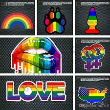 New Window Stickers Rainbow Gay Sticker Pride Rainbow Heart Sticker Bear Paw Rainbow Hand Night Reflective Car Decorative Stickers 4742 Car Window Decals Personalized Car Window Graphics From Tina310 0 75 Dhgate Com