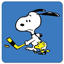 Amazon Com Snoopy And Woodstock Hockey Vynil Car Sticker Decal Select Size Arts Crafts Sewing