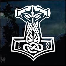 Thor S Hammer Odin Window Decal Sticker Custom Sticker Shop