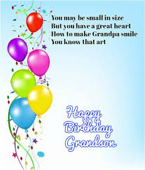 happy birthday wishes for grandson quotes messages