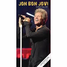 Jon Bon Jovi Unofficial Slim Diary 2021 at Calendar Club