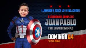 Marvel Invitacion Digital De Cumpleanos Capitan America Youtube