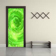 Rick Morty Portal Personalized Name Door Wrap Decal Removable Sticke Decalz Co