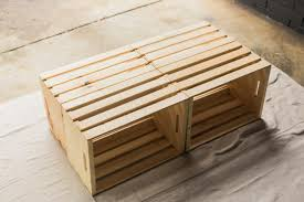 outdoor coffee table from wooden crates