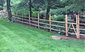 Round Cedar Post Rail Campanella Fence