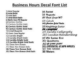 Business Industrial Custom Business Store Hours Vinyl Window Decal Sticker Sign Glass Door T7 Bsgservicos Com Br