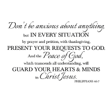 Philippians 4v6 7 Vinyl Wall Decal 2 Don T Be Anxious About Anything