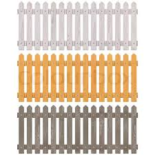 Vector Wooden Picket Fence Isolated On Stock Vector Colourbox