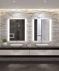 novo with wall glow lighted mirror