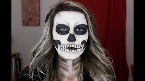 easy skeleton makeup tutorial