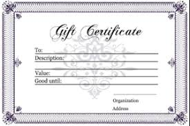 blank gift certificate templates gift