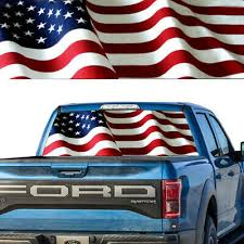 American Flag Waving 5 Patriotic Rear Window Decal Graphic For Truck Suv